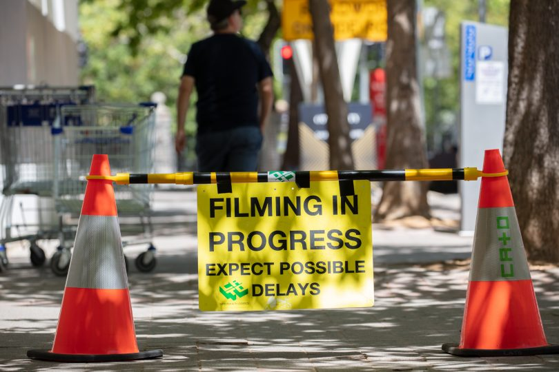 Filming in Canberra City
