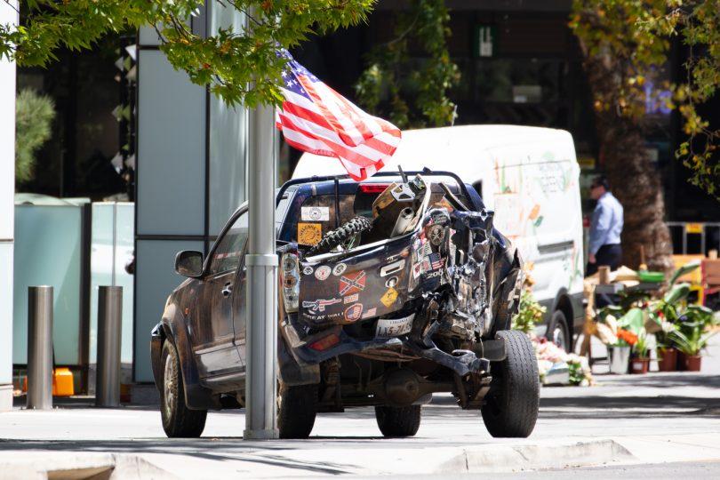 Stunt car in Civic