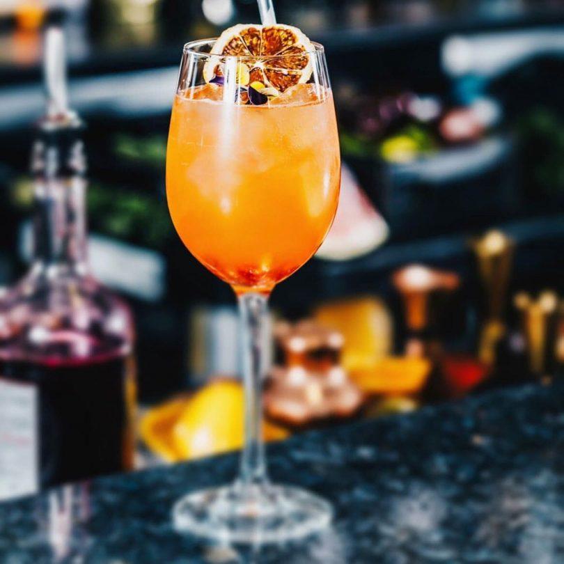 Sunset Spritz cocktail