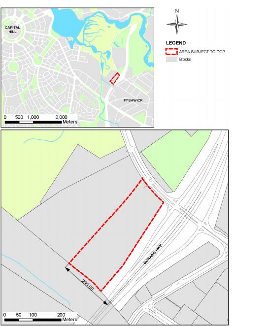 Maps of Dairy Road Precinct in Fyshwick.
