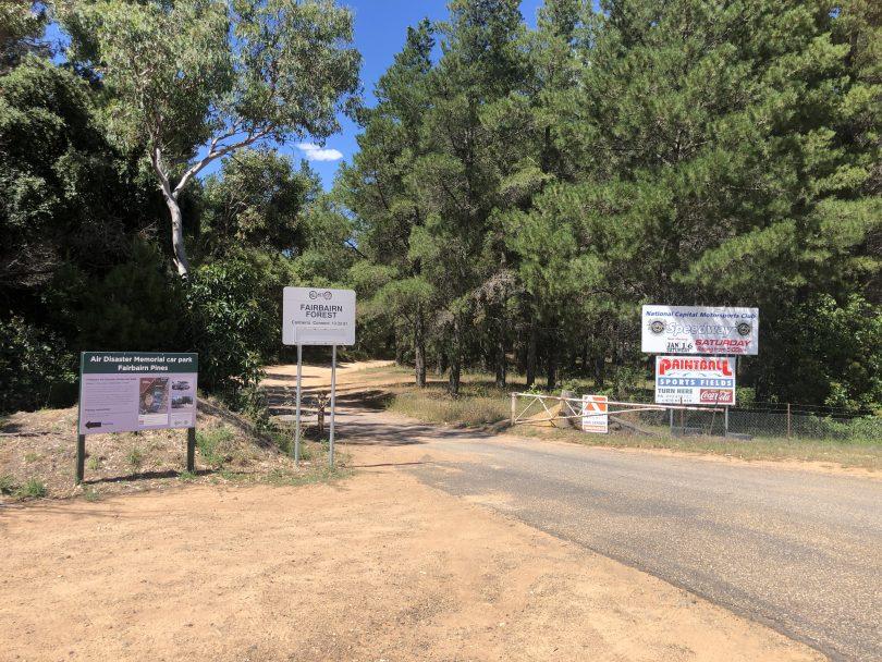 Entrance to Fairbairn Pine Forest