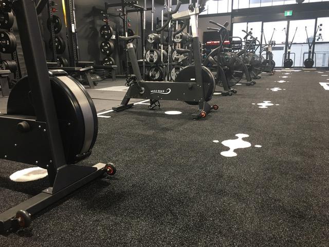 Exercise equipment at Elements4LIfe studio.