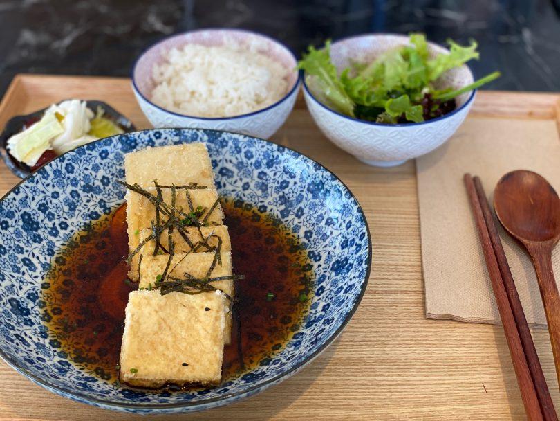 Teishoku agedashi tofu