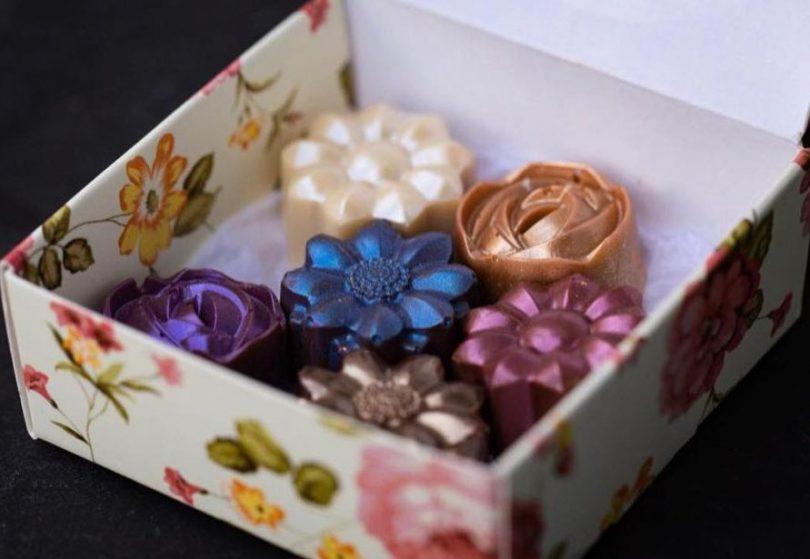 Vivid bouquet box from Enigma Fine Chocolates