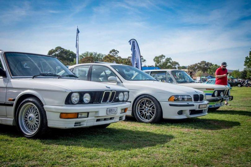 Row of BMWs