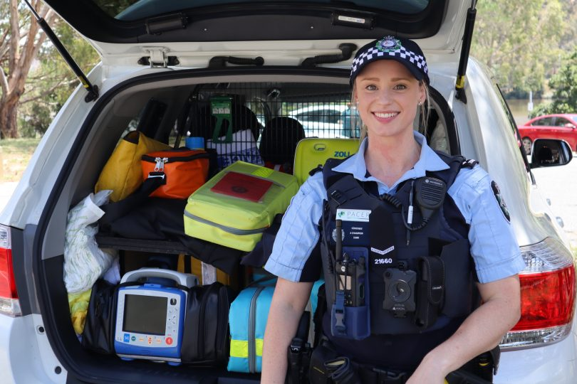 AFP's Constable Ashleigh Champion.