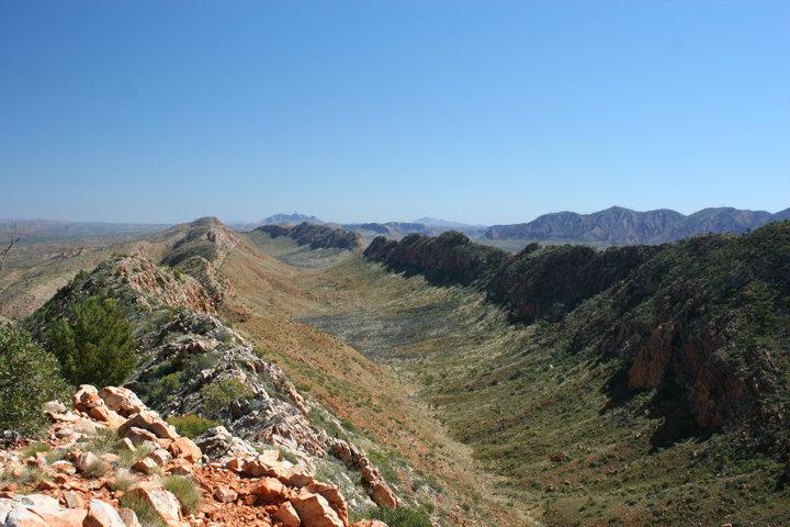 Larapinta Trail in Northern Territory.