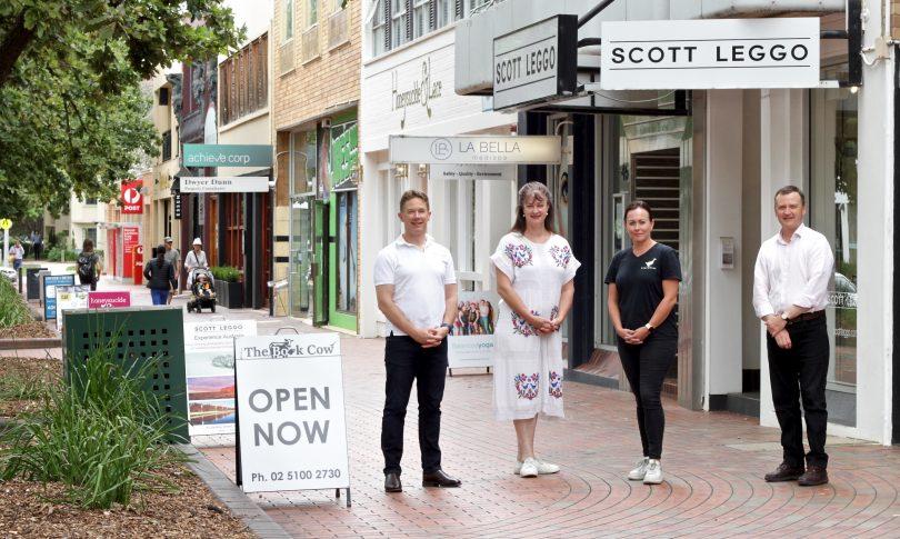 Kingston business owners Scott Leggo, Claire Smith, Kate Wellington and Peter Arnaudo.