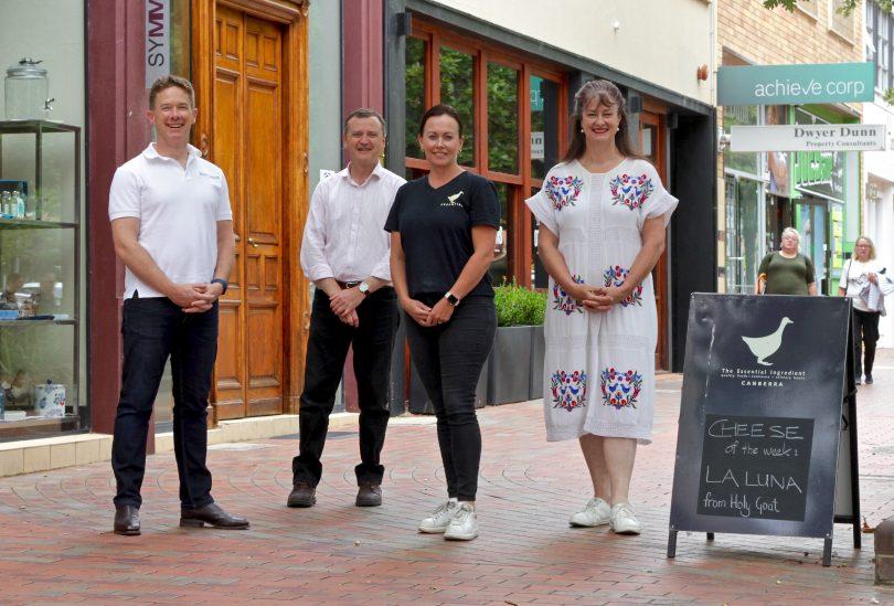 Kingston business owners Scott Leggo, Peter Arnaudo, Kate Wellington and Claire Smith.