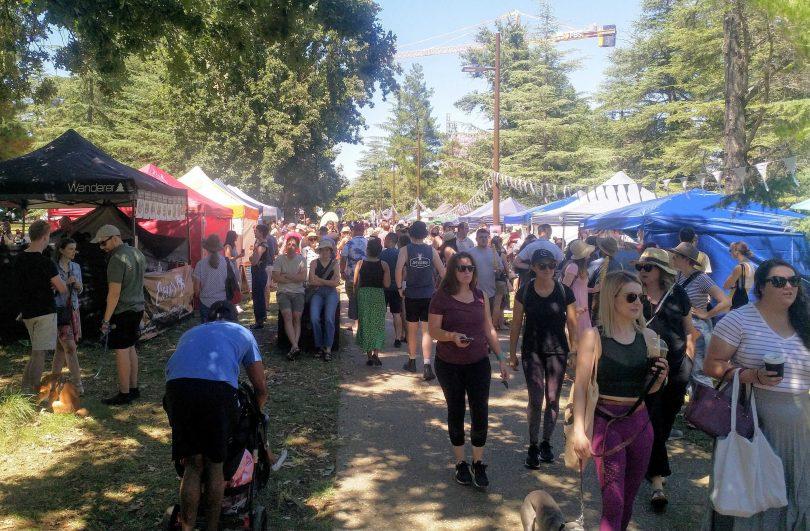 The inaugural Haig Park Village Market