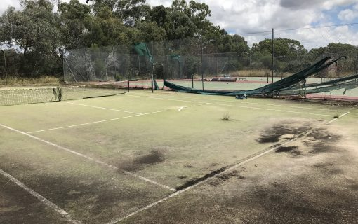 Crumbling memories of the abandoned Hawker Tennis Centre