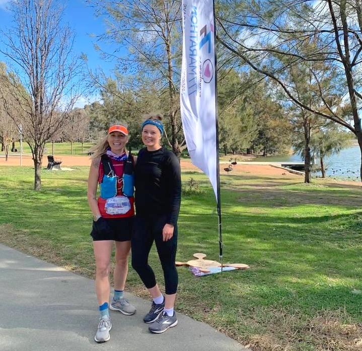 Canberra runners Jess Peil and Kaiti Primrose.
