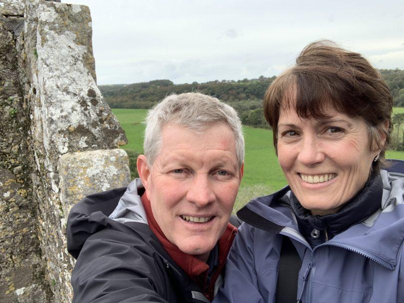 Paul Narracott with wife, Robyn Leason