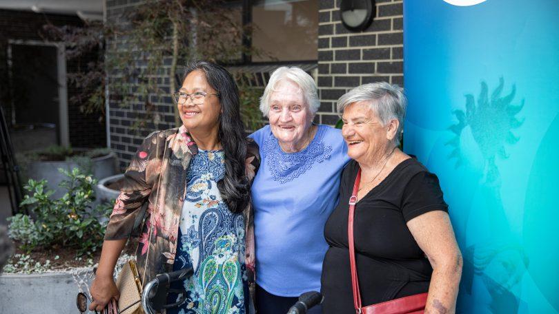 Novy Forcadas, Pat Bailey and Betty Rowley