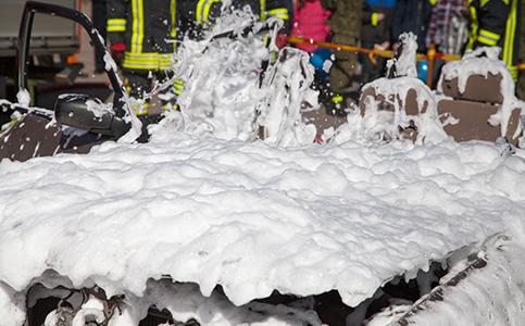 Foam containing PFAS