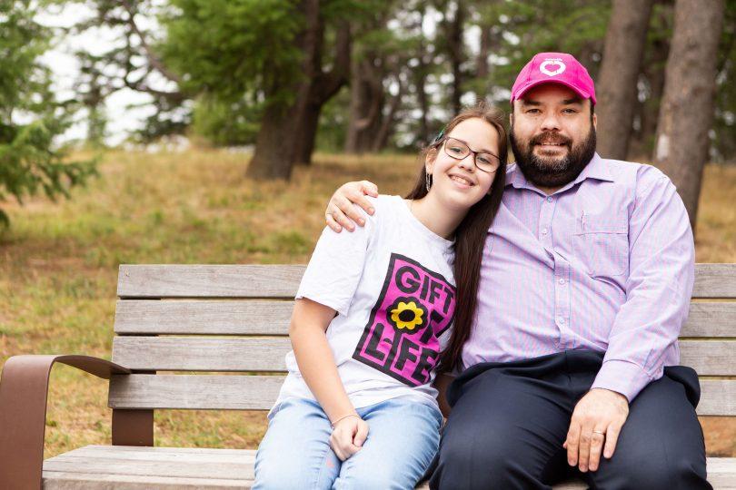 Samantha and her father Tim Kapustin
