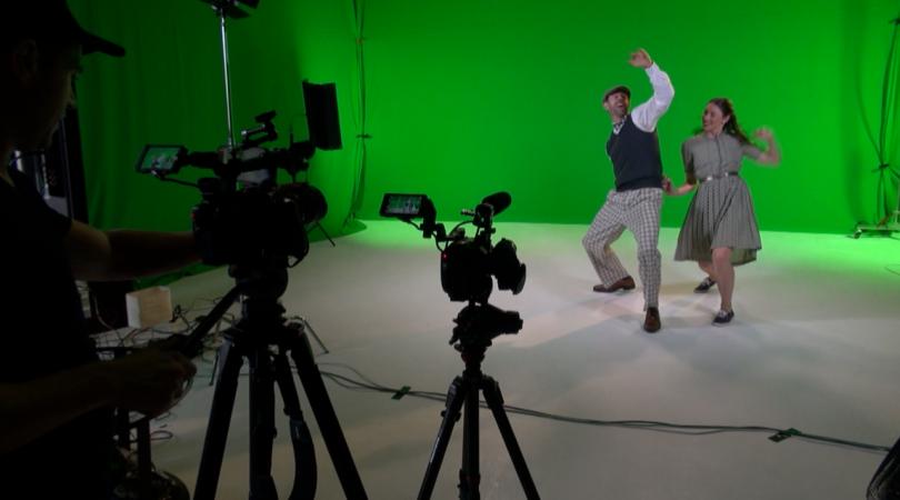 Ché Baker performing in short film 'VR Grampa'.