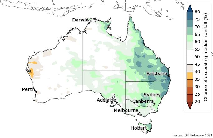 Autumn rainfall forecast