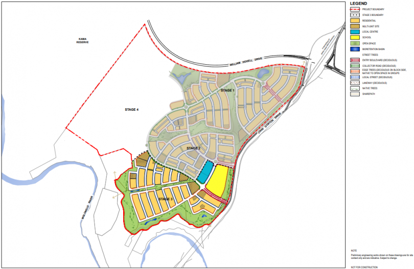 Master plan for Whitlam Stage 3