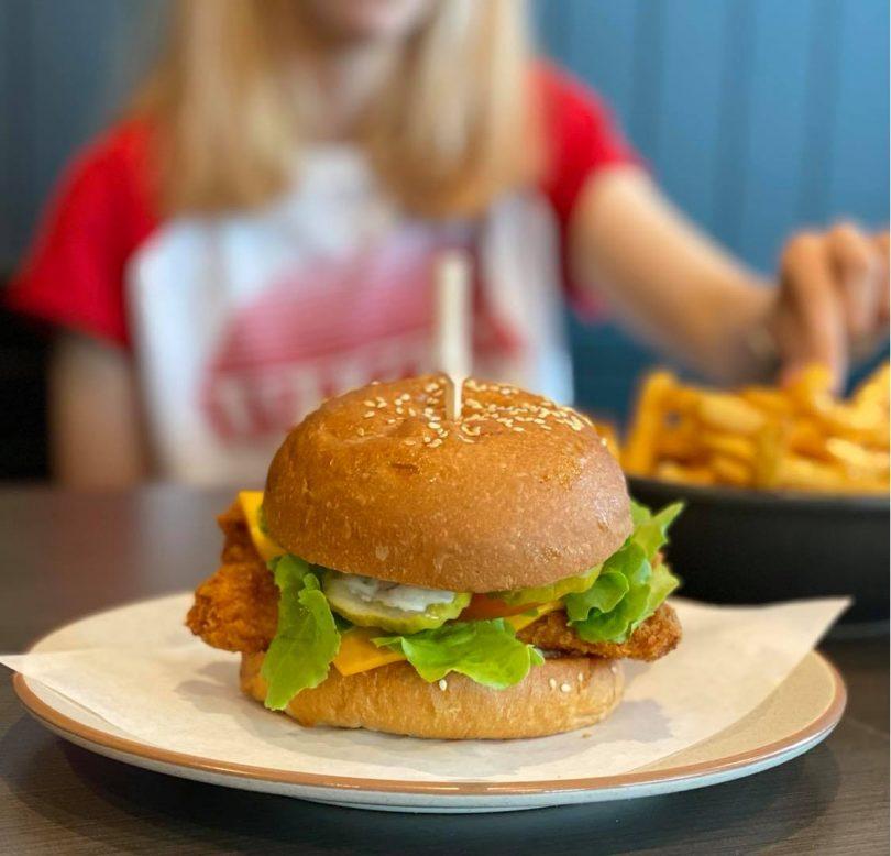 Fish burger from Burger Craft.