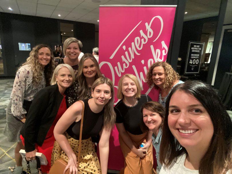 Business Chicks at International Women's Day breakfast.