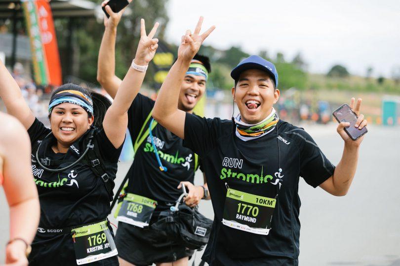 Runners at the Stromo Running Festival