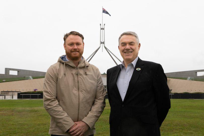 APPVA president Ian Lindgren with Kris Milne