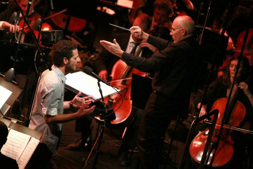 Lior and Nigel Westlake performing.
