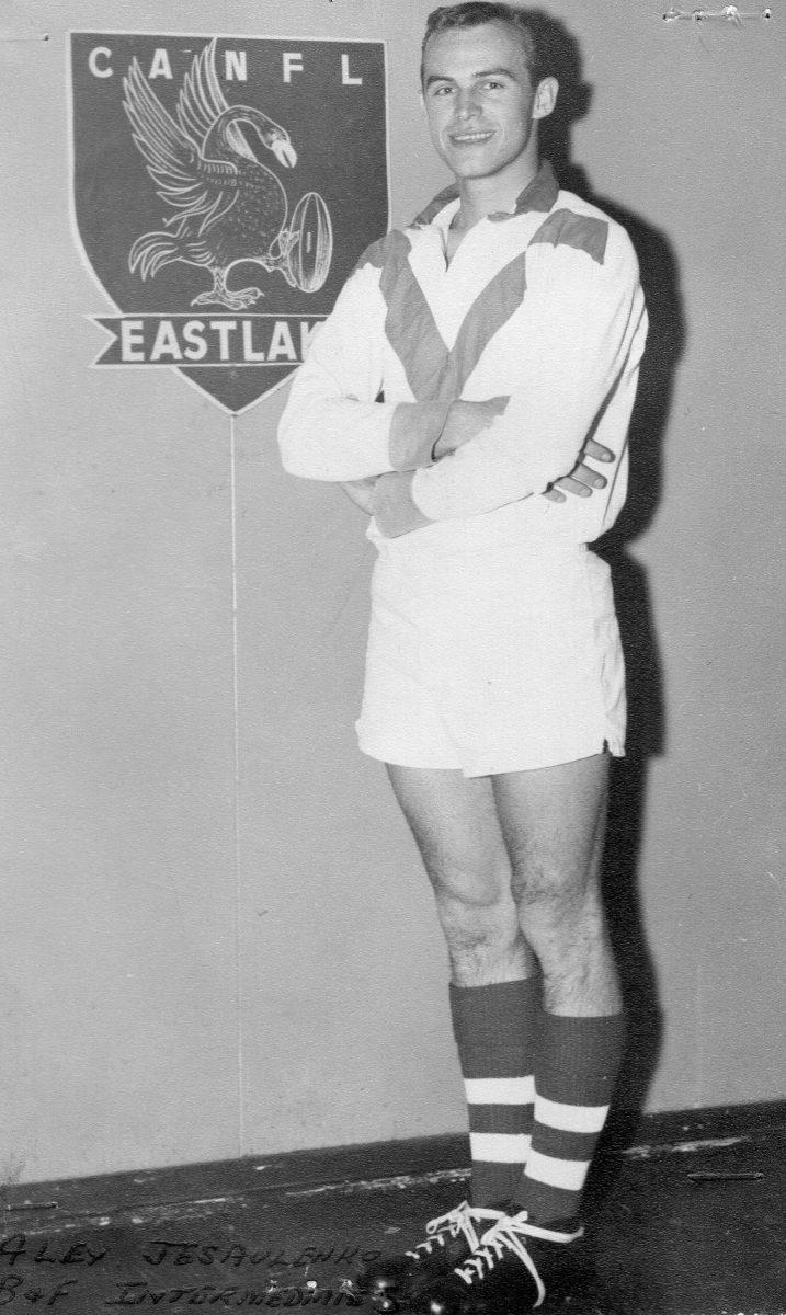Alex Jesaulenko in Eastlake playing uniform.