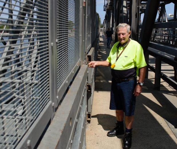 Rodney Plumb on Batemans Bay Bridge.