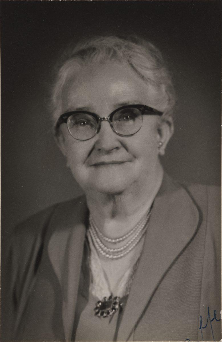 Senator Agnes Robertson in 1955.
