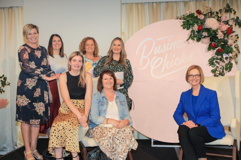 The Allinsure team with former Prime Minister Julia Gillard at an International Women's Day breakfast.
