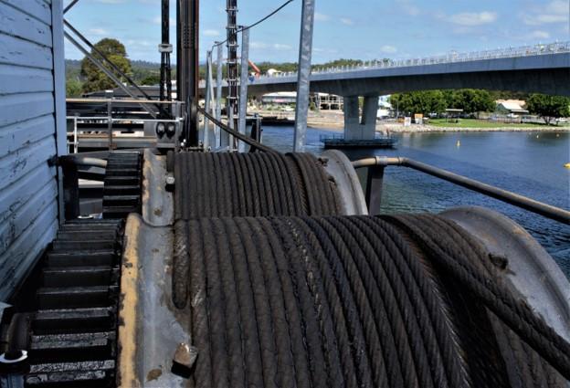 Coiled cables on Batemans Bay Bridge.