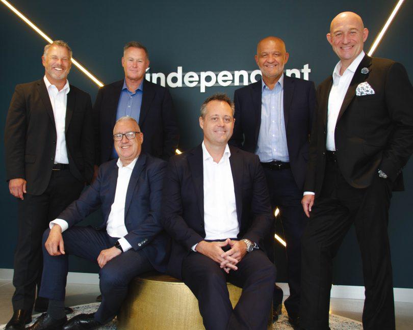Independent board members Wayne Harriden, Mark Wolens, Stan Platis, Paul Corazza, Grahame O'Brien and Chris Uren.