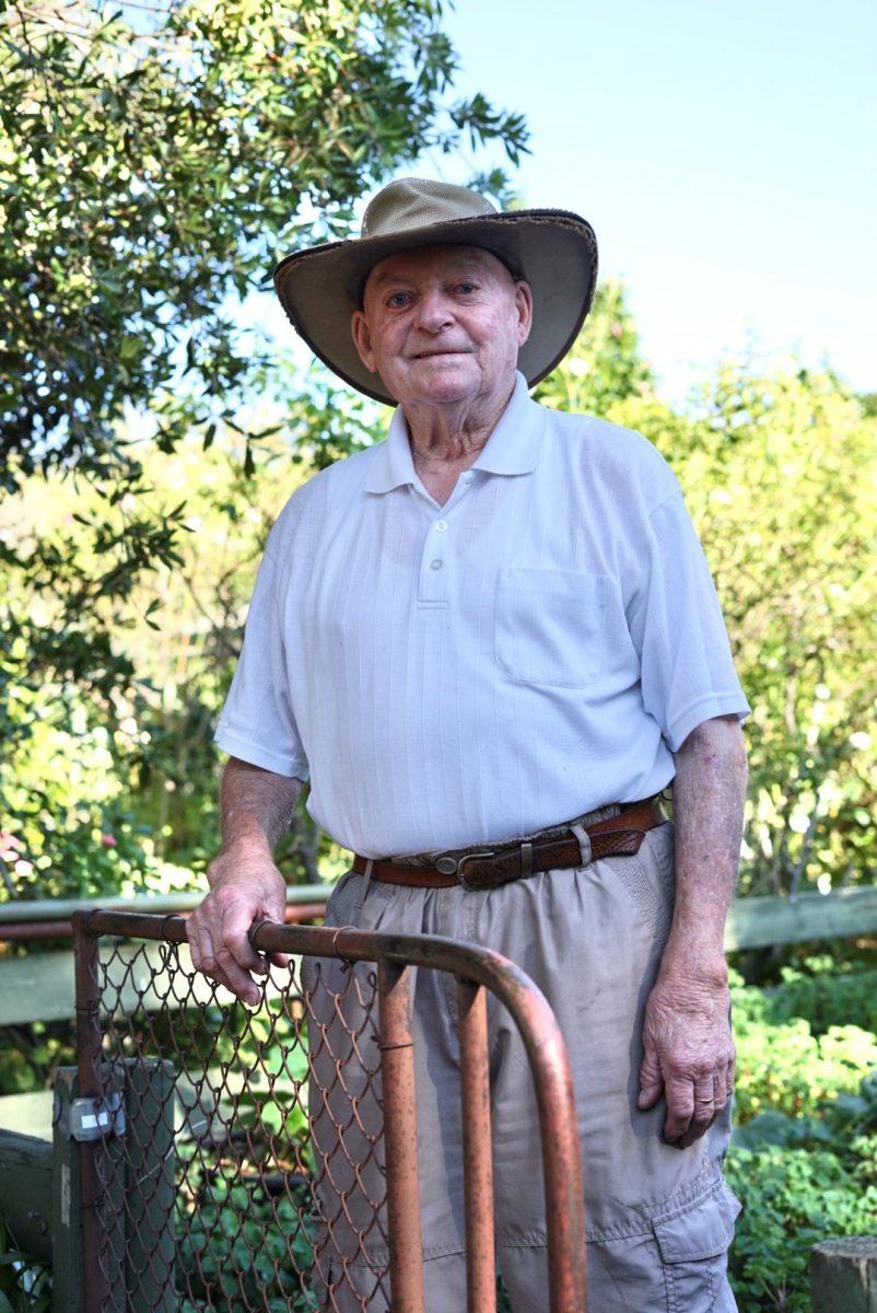 Joss Booth in his Jerrabomberra garden.