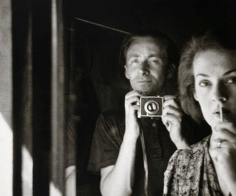 In the mirror: self portrait with Joy Hester, 1939 Albert Tucker.