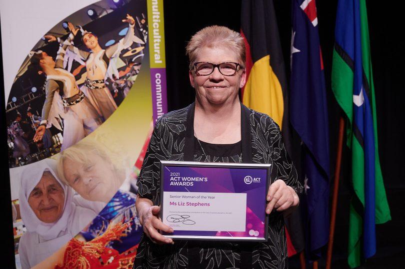 2021 ACT Senior Woman of the Year Liz Stephens.