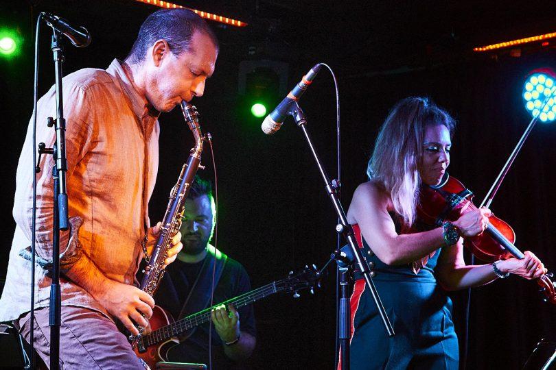 Matt Keegan and Veronique Serret performing Vienna Dreaming