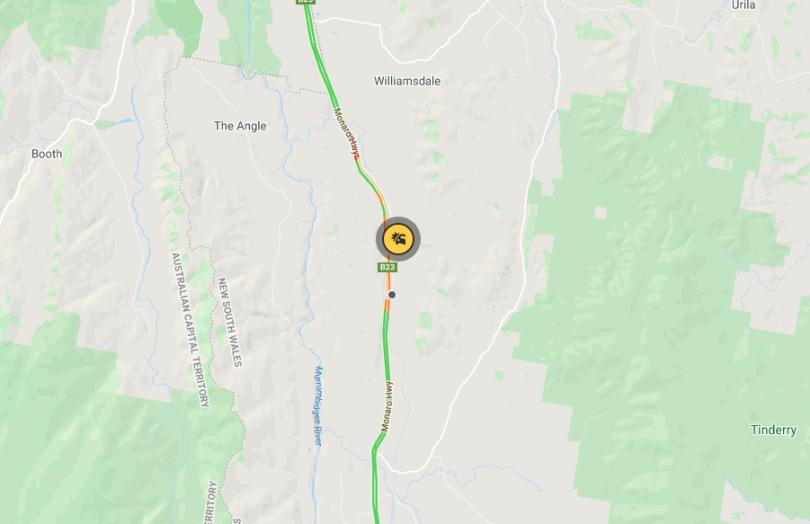 Monaro Highway accident location