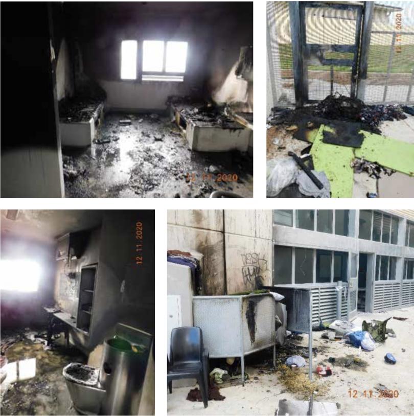 Alexander Maconochie Centre damage