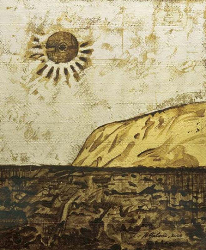 Michael Galovic's Uluru artwork.
