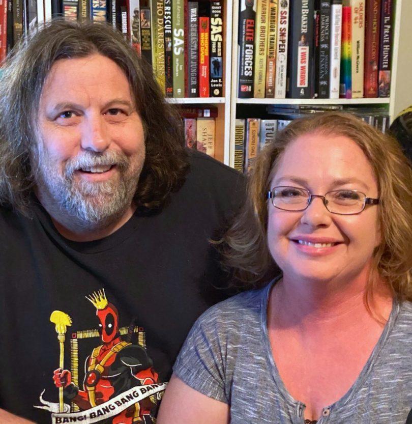 Mark Brosnan and Meredith Brosnan at home.