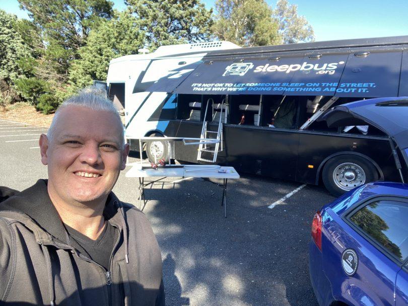 Sleepbus founder Simon Rowe