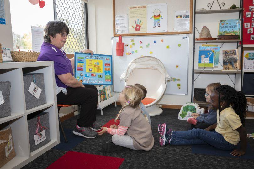 Children in class at WCS Evatt Preschool