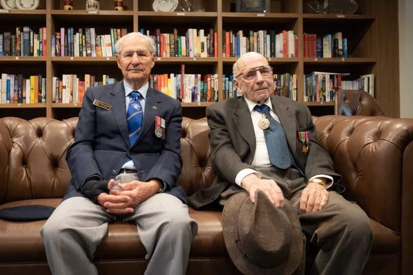 Lionel Davidson and Jack Monaghan