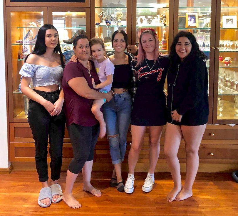 Canberra mother Belinda Nunn with her five girls