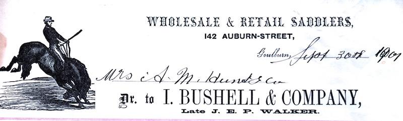 Docket from I Bushell and Company