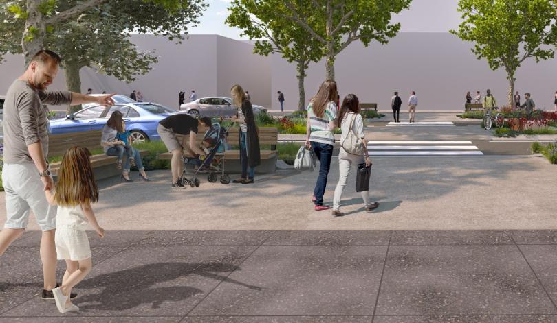 Artist's impression of Lonsdale Street upgrade