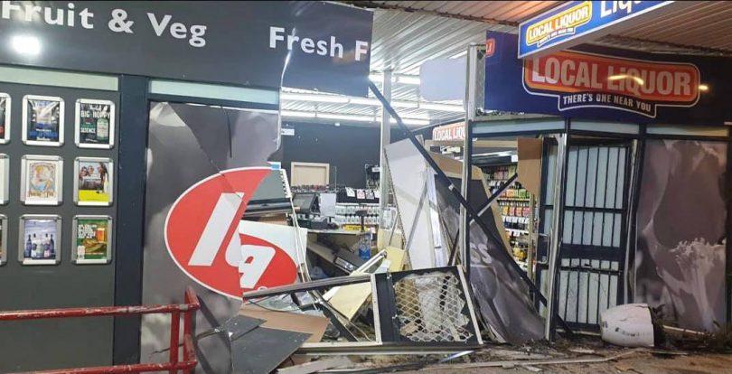 Damage to the Melba IGA supermarket