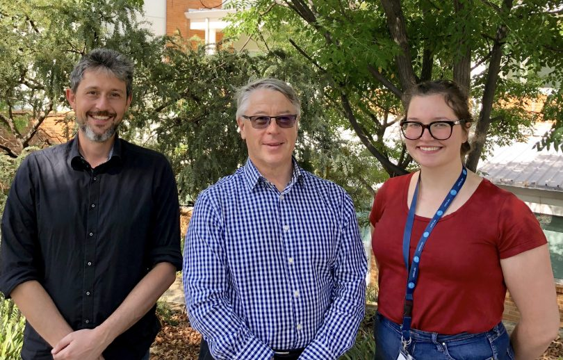 Dr Felix Weihs, Dr Stephen Trowell and Genevieve Sergeant from PPB Technology
